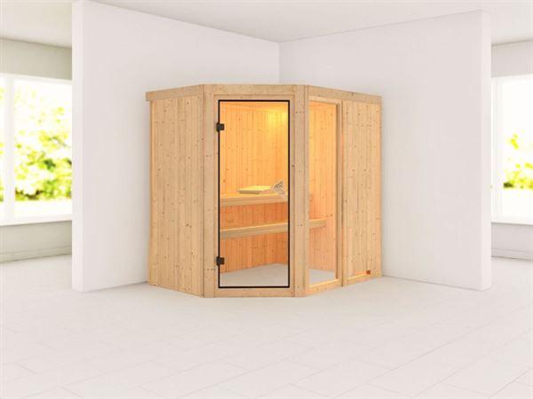 Fiona 1 - Karibu Sauna ohne Ofen - ohne Dachkranz -