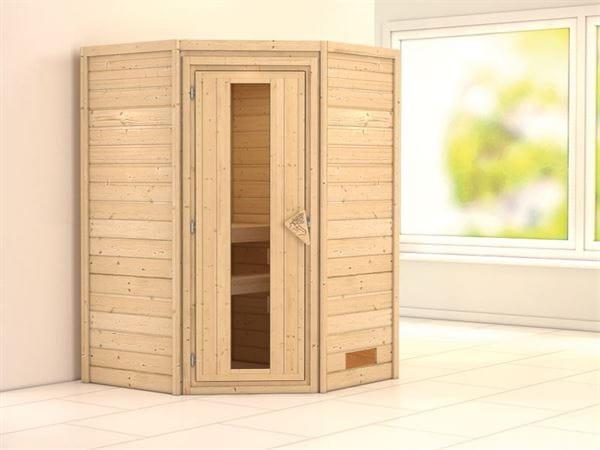 Alicja - Karibu Sauna Plug & Play ohne Ofen - ohne Dachkranz - Energiespartür