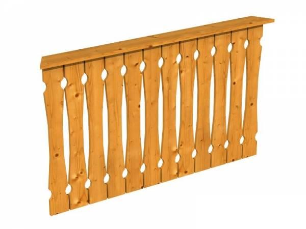 Skan Holz Brüstung für Pavillons 150 cm Balkonschalung in eiche hell