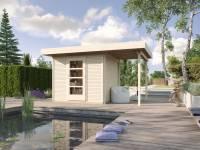 Weka Gartenhaus wekaLine 172 Größe 2 natur Anbau 150 cm