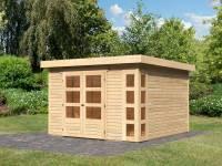 Karibu Woodfeeling Gartenhaus Kerko 6 natur 19 mm
