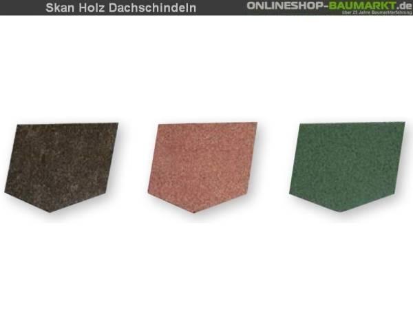 Skan Holz Dachschindeln rot