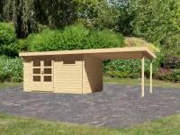 Karibu Woodfeeling Gartenhaus Bastrup 8 mit Schleppdach 3 Meter