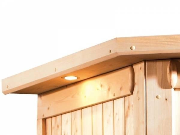 Karibu Dachkranz für 40 mm Sauna bes. Form