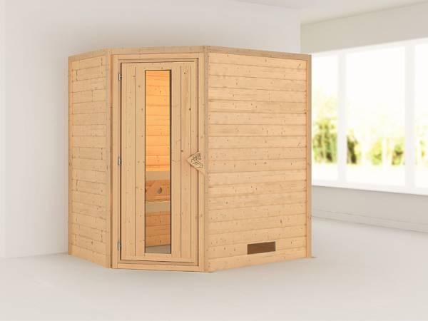 Karibu Sauna Svea 38 mm ohne Dachkranz- ohne Ofen- energiesparende Tür