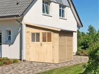 Karibu Gartenhaus Bomlitz 2 natur 19 mm