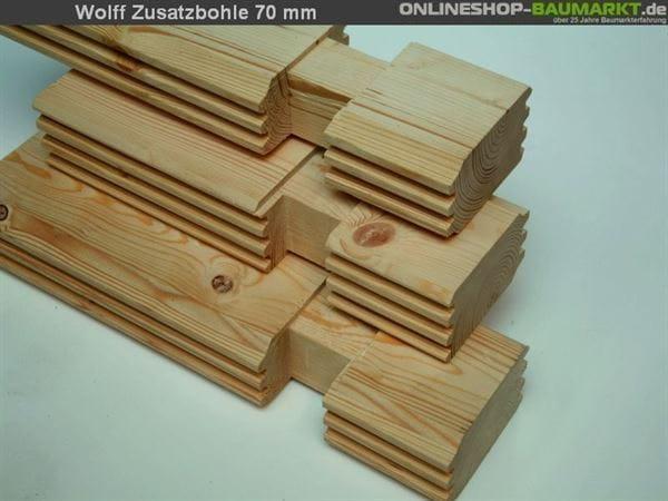 Wolff Finnhaus Zusatzbohle 70 mm je lfm.