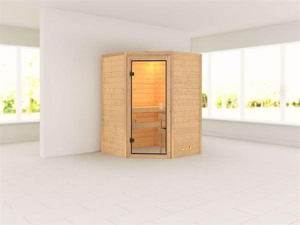Alicja - Karibu Sauna Plug & Play ohne Ofen - ohne Dachkranz -