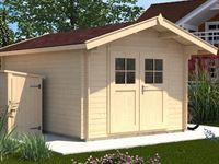Weka Gartenhaus 112 Gr 4 Vordach 60 cm