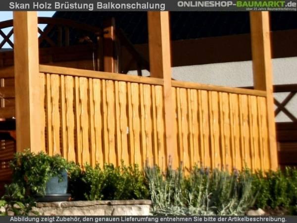 Skan Holz Brüstung für Terrassenüberdachung 170 cm Balkonschalung
