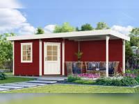 Weka Gartenhaus 5-Eck-Haus 213 Gr 1 schwedenrot Anbau 300 cm