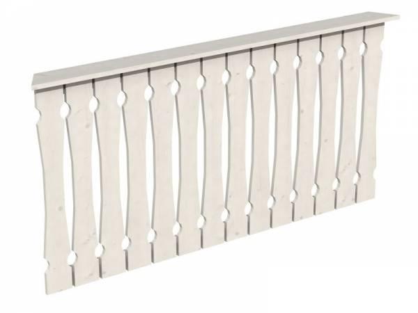 Skan Holz Brüstung für Pavillons 180 cm Balkonschalung in weiß
