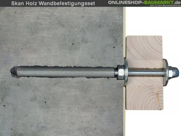 Skan Holz Wandbefestigungsset für Terrassenüberdachungen mit 434 cm Breite