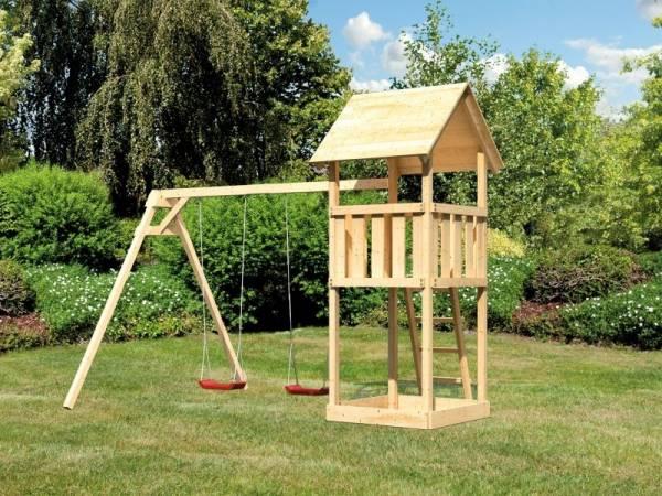 Akubi Spielturm Lotti mit Doppelschaukel