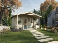 Weka Gartenhaus 138 Gr. 2 mit Vordach und Terrasse