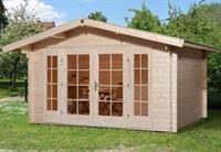 Weka Gartenhaus 137 Gr. 2 Vordach 60 cm