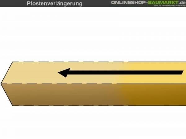 Pfostenverlängerung auf Länge 245 cm für 3 Pfosten