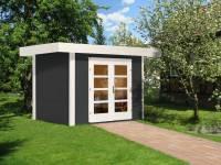 Weka Gartenhaus 126 Plus Gr. 1 anthrazit