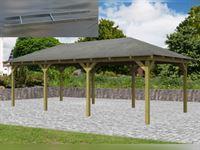 Karibu 4-Eck Aktions Pavillon Arcazia 2 inkl. H-Pfostenanker
