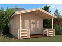 Weka Gartenhaus 137 Gr. 1 mit Vordach und Terrasse
