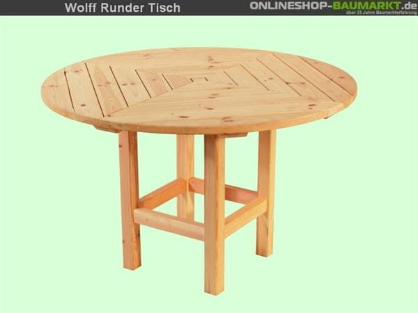 Wolff Finnhaus Tisch rund Kreta 8 und Ibiza A