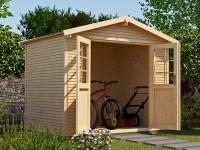 Weka Gartenhaus 218 Größe 2 mit Doppeltür 28 mm wekaLine natur