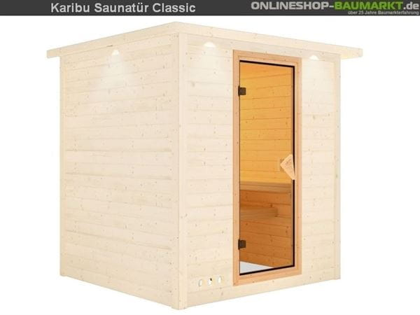 Karibu Saunatür Classic bronziert für 68 mm Wandstärke