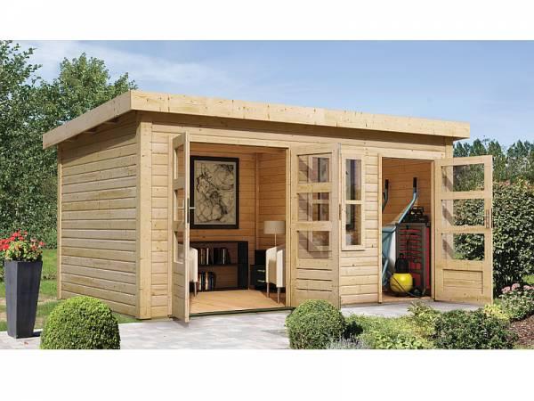 Karibu Woodfeeling Gartenhaus Schönbuch 2 38 mm 2-Raum-Haus