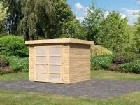 Karibu Gartenhaus Mühlendorf 3 natur 19 mm