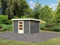 Karibu Woodfeeling Gartenhaus Oburg 6 in terragrau 19 mm