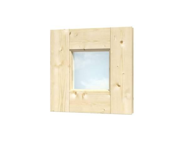 Skan Holz Einzelfenster quadratisch feststehend
