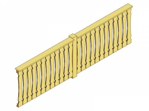 Skan Holz Brüstung für Pavillons 400 cm Balkonschalung