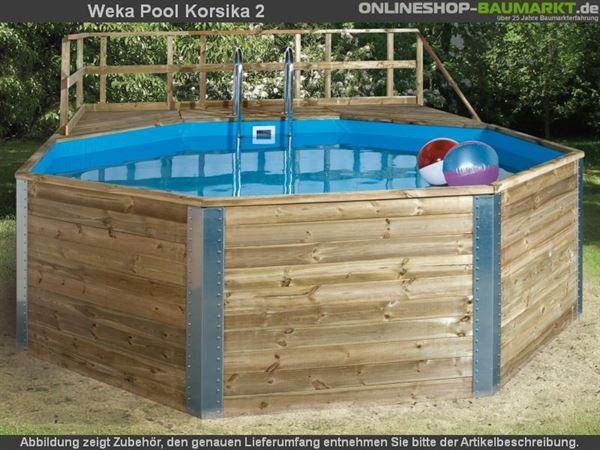 Weka Pool 593 B Gr. 2 Aktionsset mit Edelstahl-Einhängeleiter