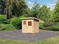 Karibu Woodfeeling Gartenhaus Oranienburg 2 natur 19 mm