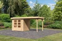 Karibu Woodfeeling Gartenhaus Askola 2 mit Anbaudach 2,25 Meter
