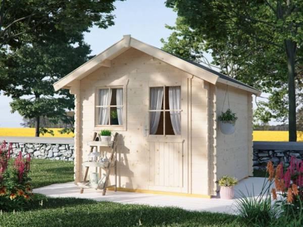 Skan Holz Blockbohlenhaus Porto Größe 2 250 x 250 cm