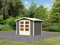 Karibu Woodfeeling Gartenhaus Amberg 3 terragrau