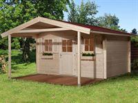 Weka Gartenhaus 135 Gr. 2 Vordach 200 cm