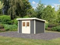 Karibu Gartenhaus Kerpen 4 terragrau