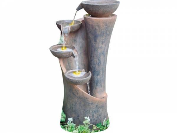 Granimex Baihong-Quellenschalensäule inkl. LED-Beleuchtung, Pumpe