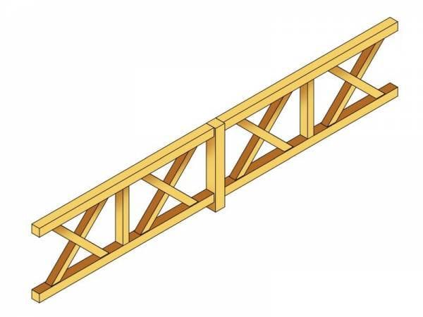 Skan Holz Brüstung für Pavillons 465 cm Andreaskreuz