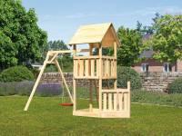 Akubi Spielturm Lotti + Schiffsanbau unten + Einzelschaukel