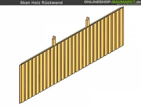 Skan Holz Rückwand für Carport 550 x 220 cm Deckelschalung