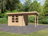 Karibu Woodfeeling Gartenhaus Bastrup 3 mit Schleppdach 2 Meter