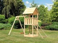 Akubi Spielturm Lotti mit Einzelschaukel und Netzrampe
