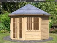 Karibu 8-Eck Pavillon Premium Rom 2 natur