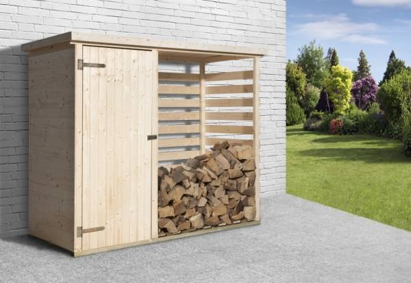Weka Garten Brennholzlager 663 mit Geräteraum