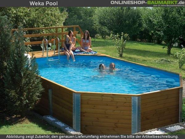 Weka Pool 594 Gr. 1 Set mit Edelstahl Einhängeleiter