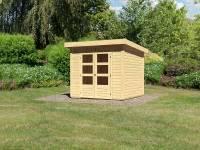 Karibu Woodfeeling Gartenhaus Kandern 3 natur 28 mm
