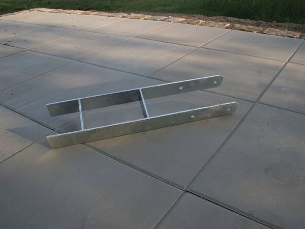 Karibu H-Pfostenanker 12 x 12 x 60 cm 1 St.